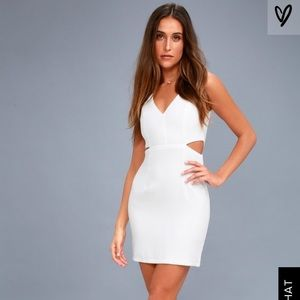 Lulus backstage pass cutout bodycon dress